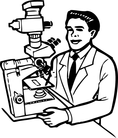 clip library stock Microscope clipart pathologist. Science microscopy magnify lab