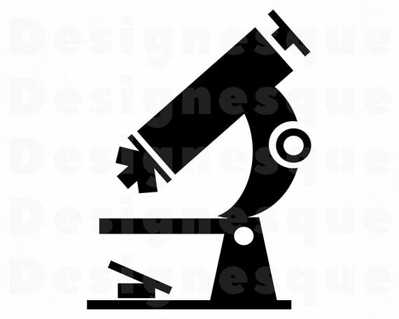 png black and white download Files for cricut cut. Microscope clipart svg.