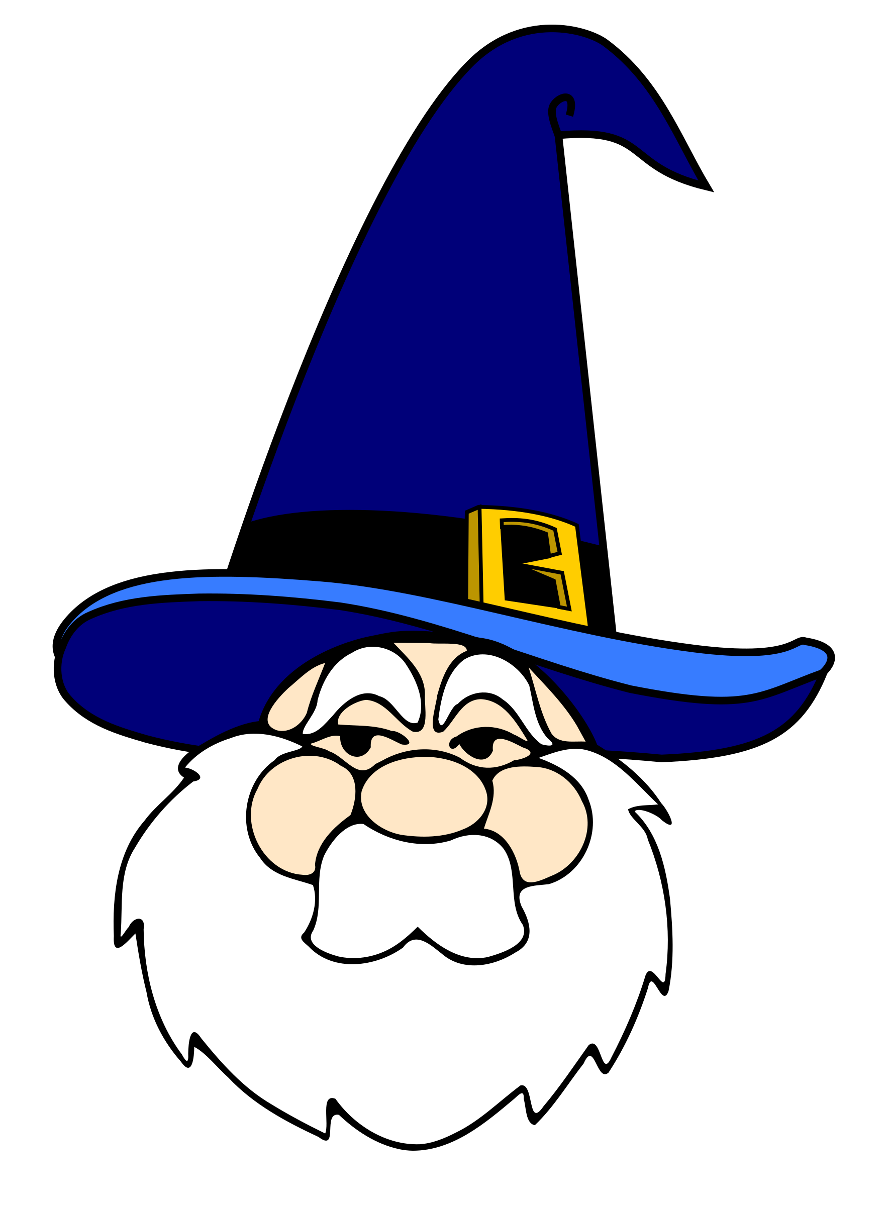 png library stock Microsoft clipart wizzard. Wizard in blue hat.