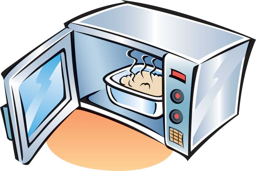 library Microwave clipart heating.  clipartlook.