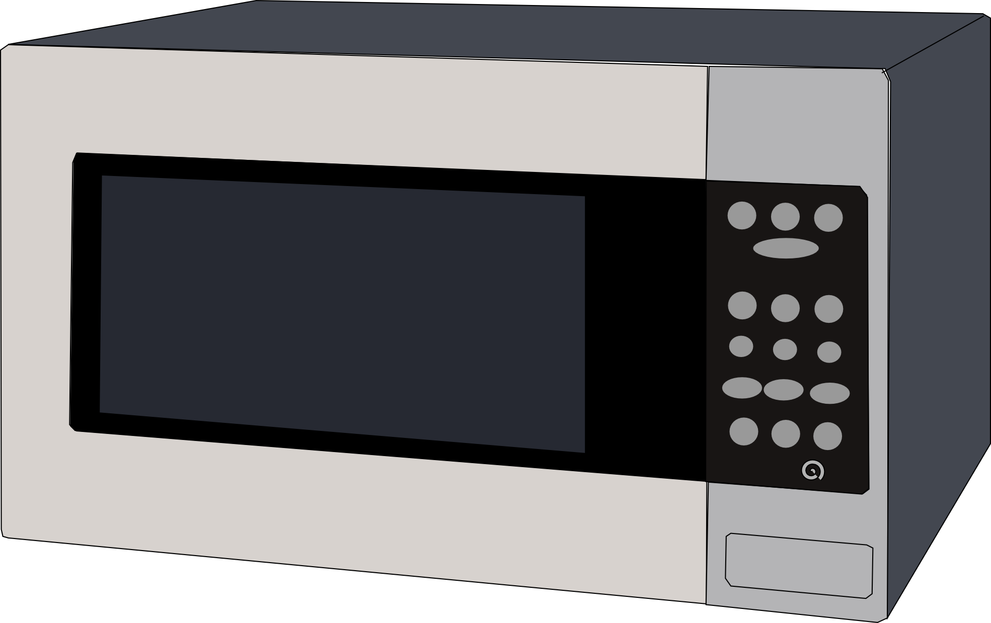 jpg transparent Microwave clipart messy. Panda free images microwaveclipart