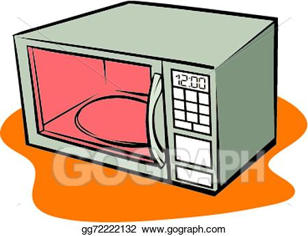 clip art library stock Eps illustration vector gg. Microwave clipart pretty.