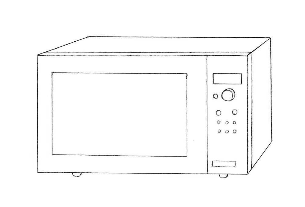 vector transparent library How to draw a. Oven drawing