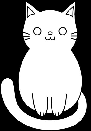 clipart free stock Cute Cat Line Art