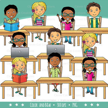graphic free stock School teen kids in. Middle clipart classroom.