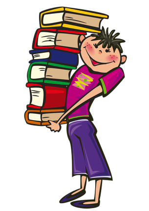clip royalty free download Middle clipart classroom. Books student png back.