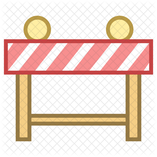 vector black and white library Barrier icon. Middle clipart roadblock.