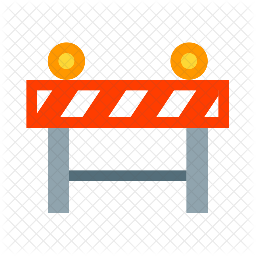 vector black and white library Middle clipart roadblock. Barrier icon.