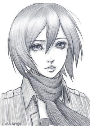 clip black and white download Mikasa Ackerman by munette on DeviantArt Attack on titan