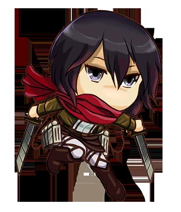 clipart free Mikasa chibi by Evolvana on DeviantArt