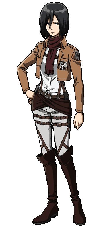 graphic black and white stock Mikasa Ackerman
