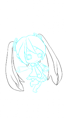 png black and white library How to draw hatsune. Miku drawing