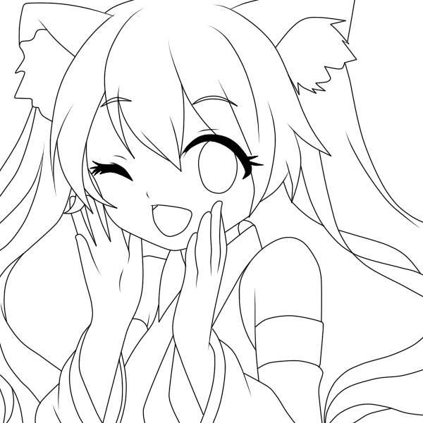 picture freeuse download Miku drawing. Hatsune lineart by notheryne