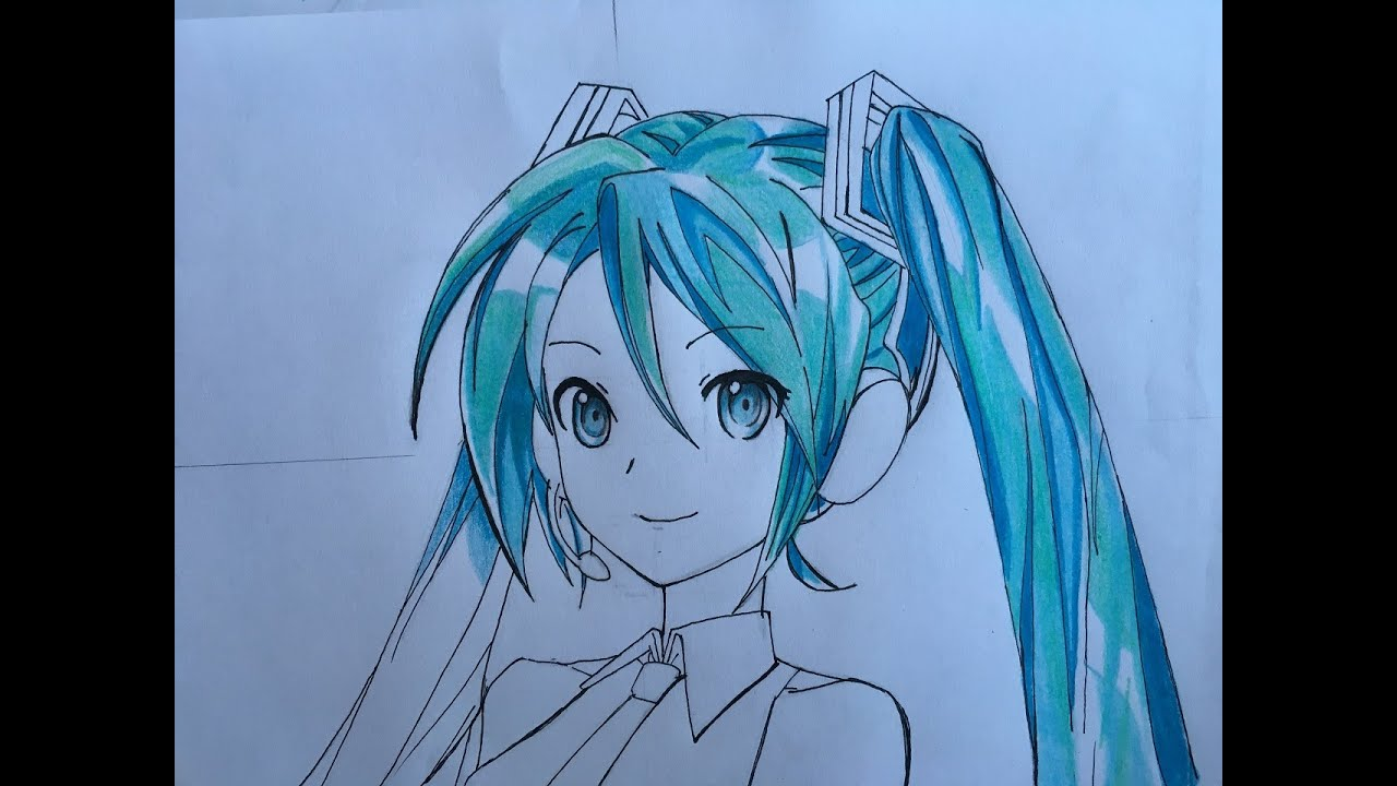 clipart free library Miku drawing. How to draw hatsune