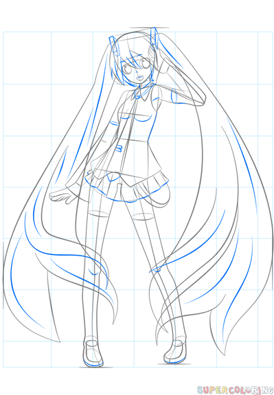 jpg black and white download How to draw hatsune. Miku drawing