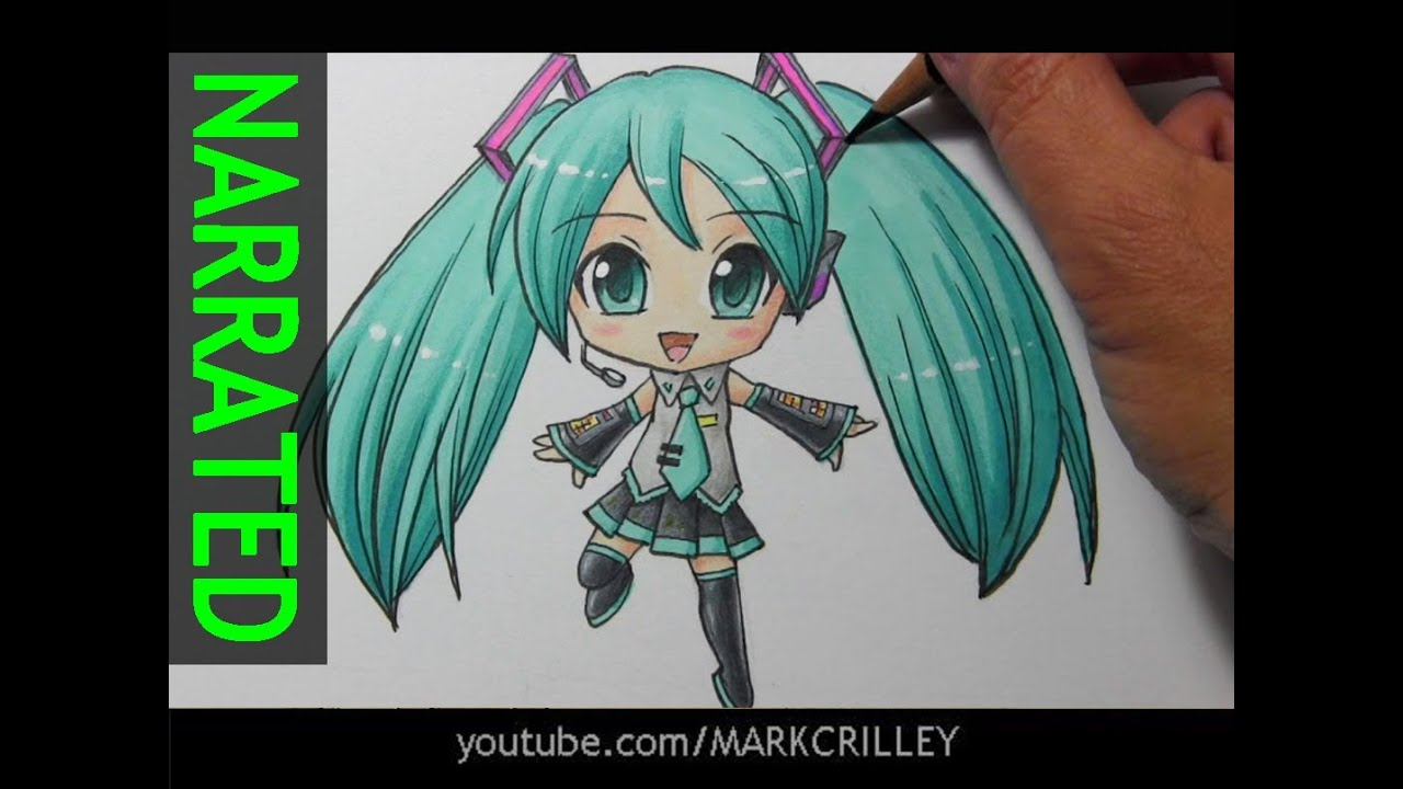 vector freeuse stock Miku drawing. How to draw chibi