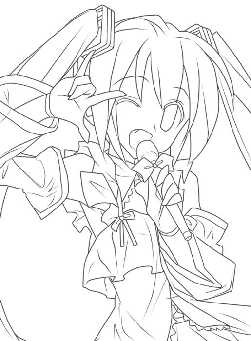 freeuse stock Miku drawing face. Hatsune moe shu djo