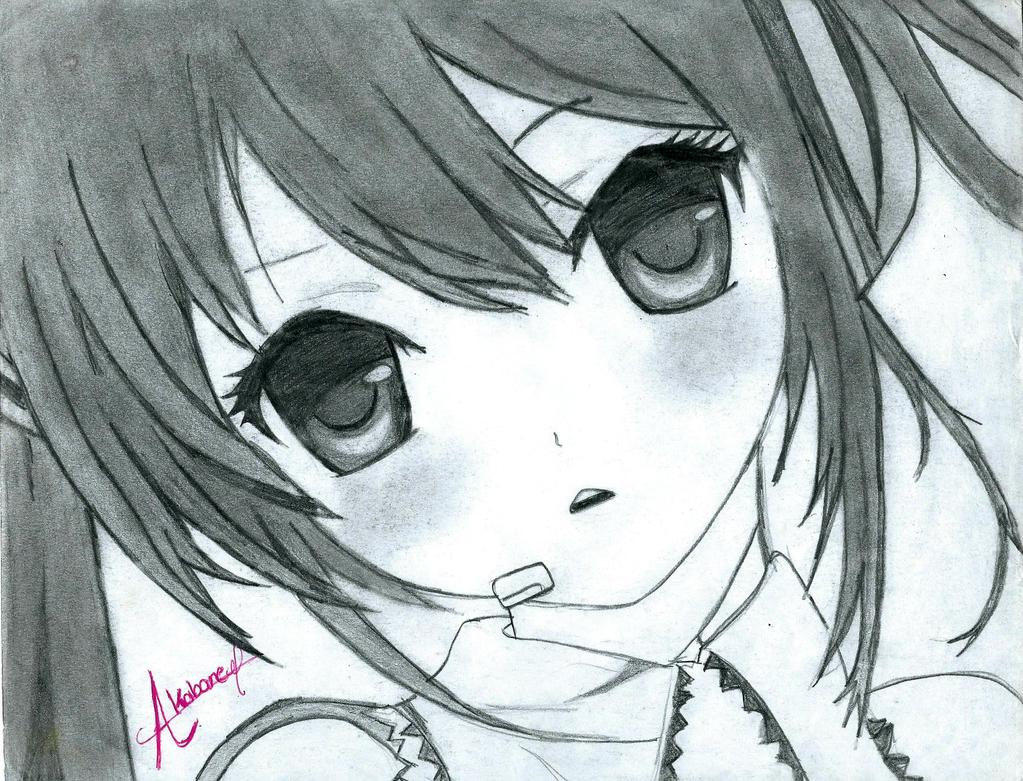 svg black and white stock Meownime hatsune efiraindex m. Miku drawing face