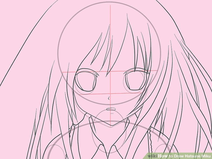 svg freeuse stock Miku drawing face. How to draw hatsune