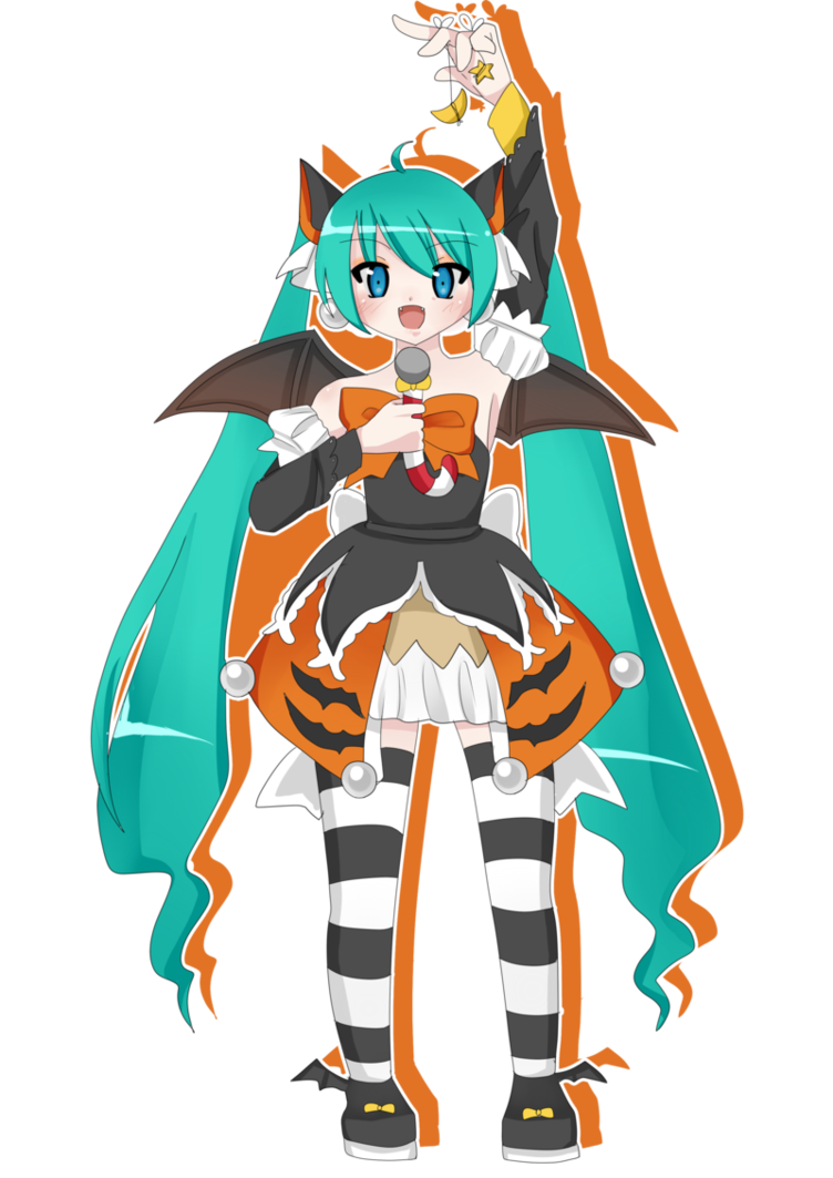 banner freeuse stock Halloween Miku by popkachu on DeviantArt