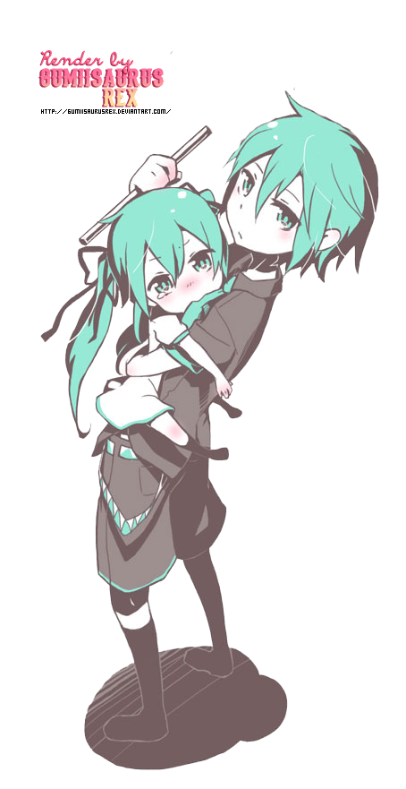 png freeuse Miku and Mikuo