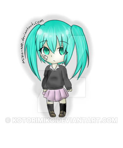 transparent download Rolling Girl Miku Chibi by acxrs on DeviantArt