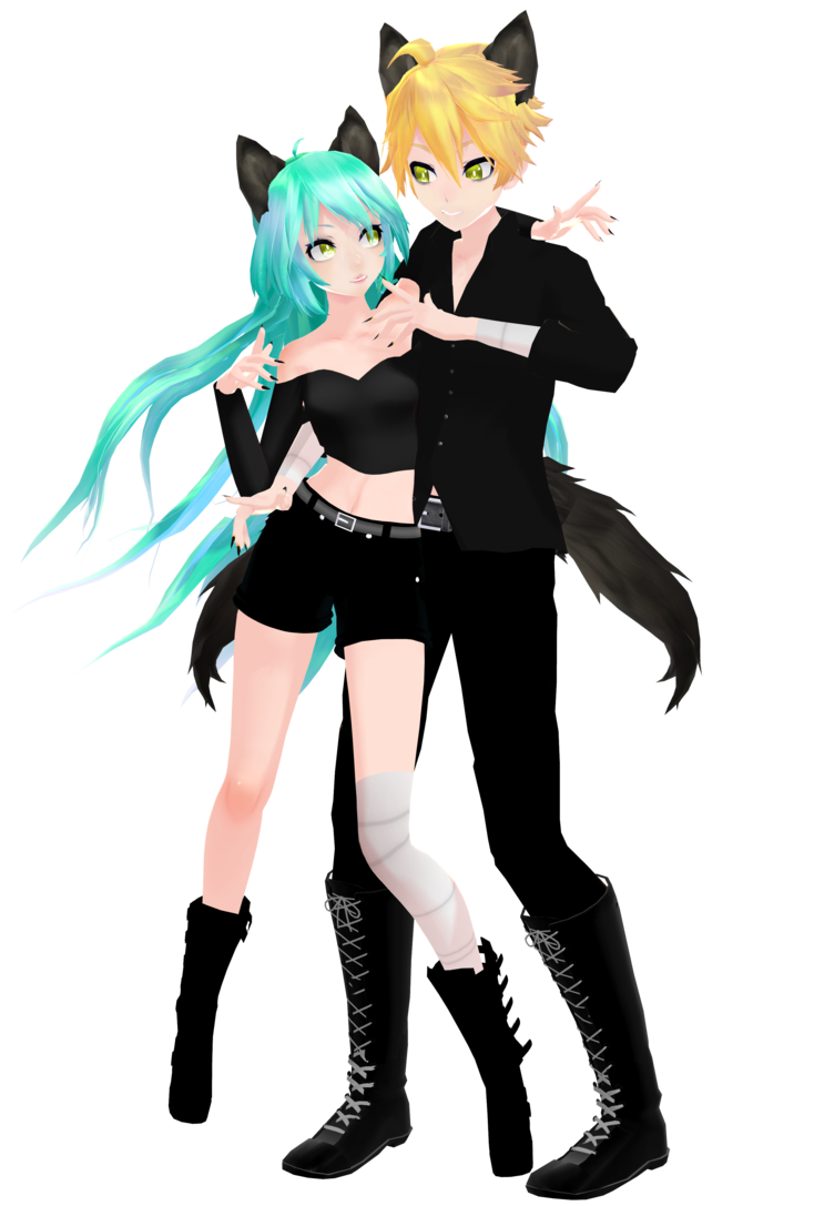 clip library library Miku found her Len by MMDFantasy