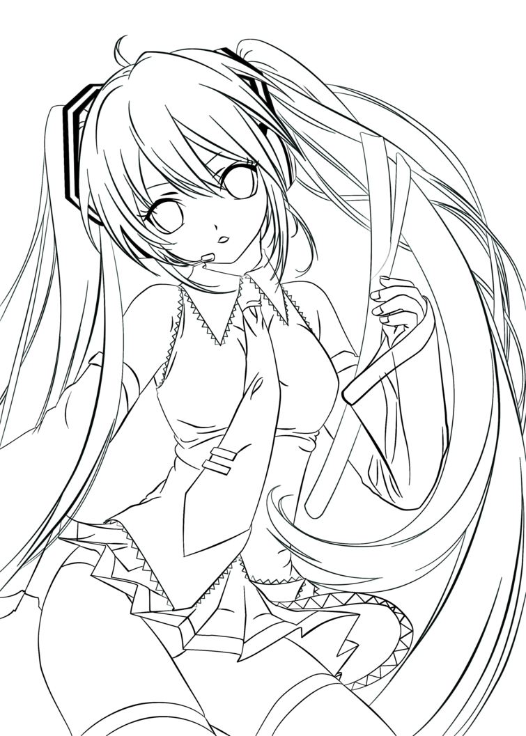 clipart royalty free library Miku drawing. Hatsune at getdrawings com