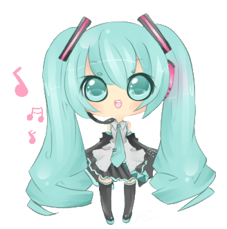 svg free download Miku Hatsune Chibi by Brivee