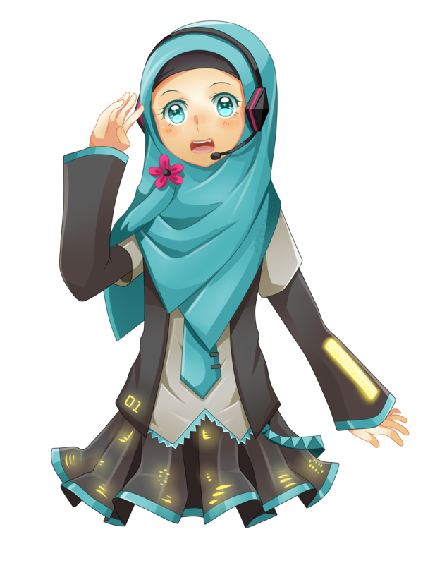 picture transparent download Hatsune Miku with Veil by piyoa on DeviantArt
