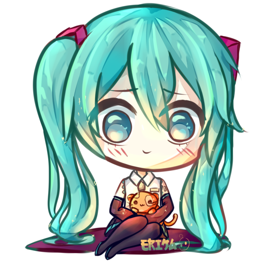 vector royalty free download Kawaii Hatsune Miku by Dessineka on DeviantArt
