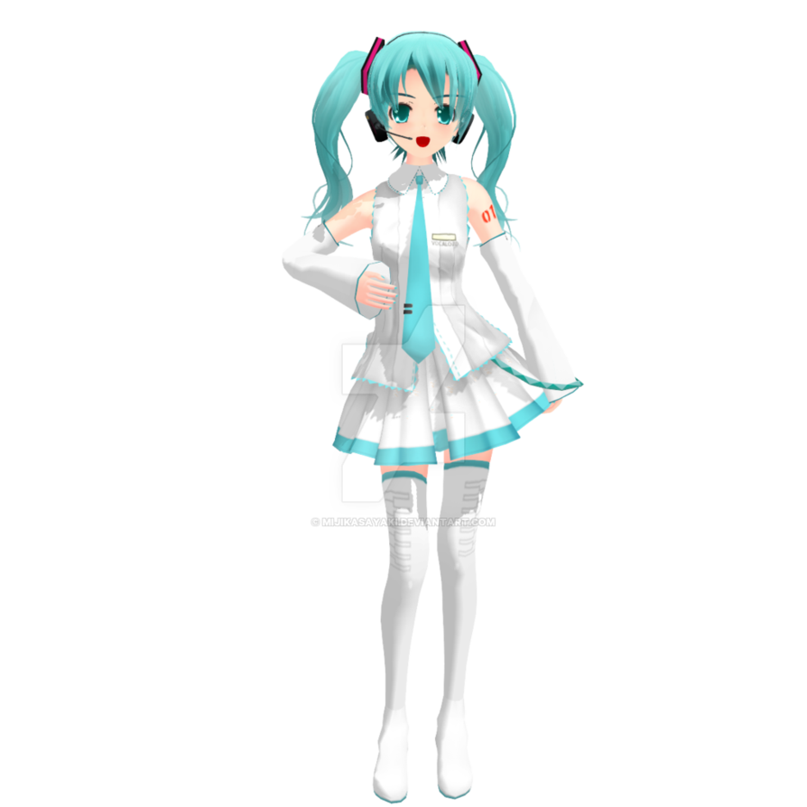 svg library MMD Love Death White Miku