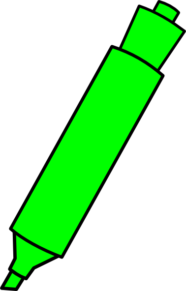 clipart stock Green Highlighter Marker Clip Art at Clker