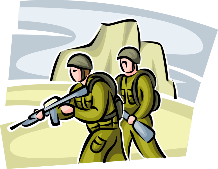 image free stock Military clipart uniform marine. Soldiers in combat war.