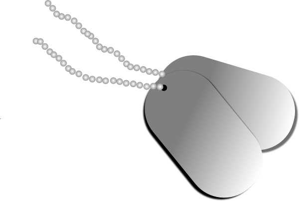 picture library stock Military Dog Tags Clipart