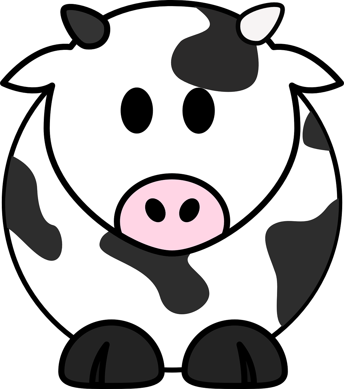 picture royalty free library Free image on pixabay. Milk black and white clipart