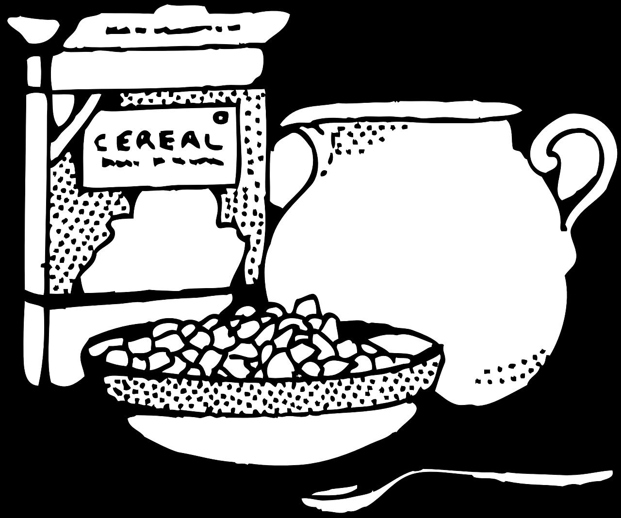 svg freeuse download Cereal bowl transparent image. Milk clipart breakfast.