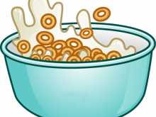 picture black and white Free cereal cliparts download. Milk clipart breakfast.
