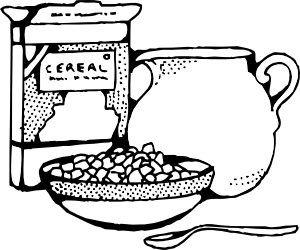 picture black and white Milk clipart coloring. Cereal box and clip.