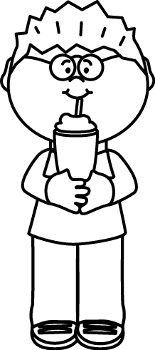 vector free download Black and white kid. Milk clipart coloring.
