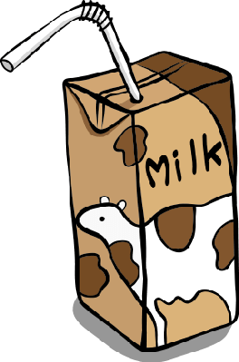 clipart freeuse download Milk clipart in box. Chocolate health and nutrition.