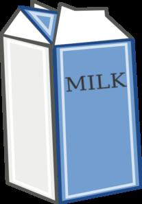 graphic black and white Milk clipart in box. Carton clip art at.