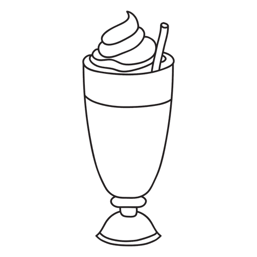 image black and white Iced Coffee Clipart Black And White images