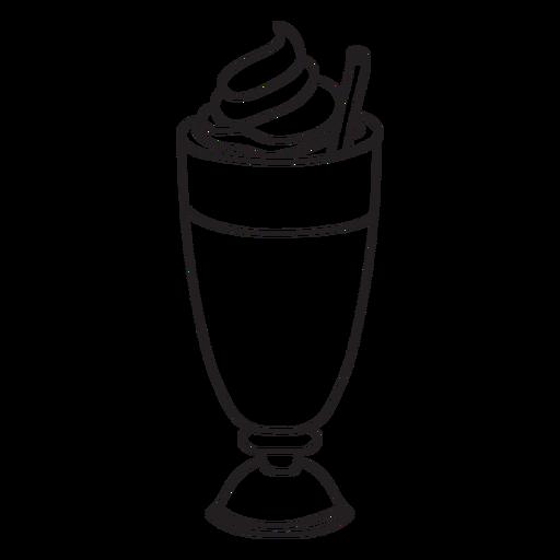 graphic black and white Milkshake Clipart outline
