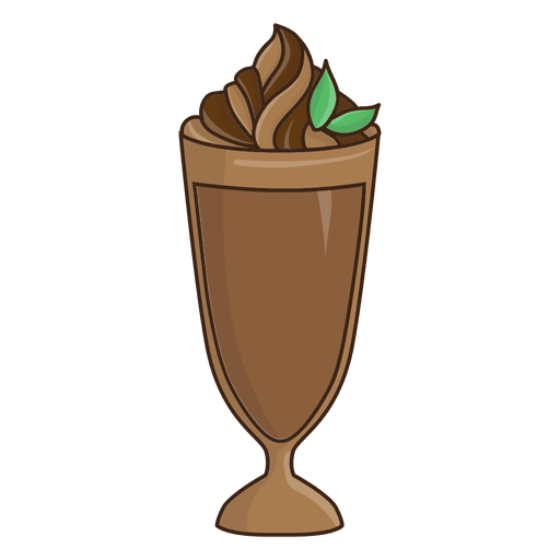 banner freeuse library Milkshake chocolate illustration transparent. Vector coffee dessert