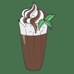 clipart library stock Hand drawn milkshake poster