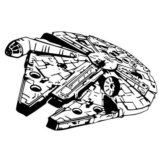 image library download Millennium clipart. Falcon silhouette star wars