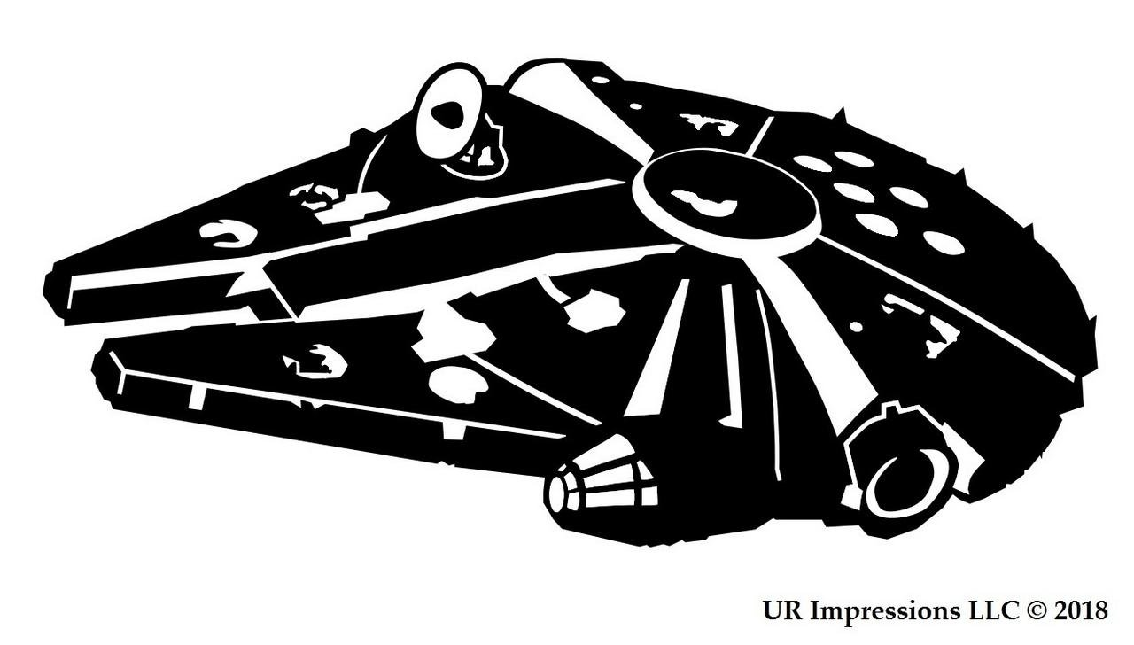 png free stock Ur impressions blk lf. Millennium clipart black and white.
