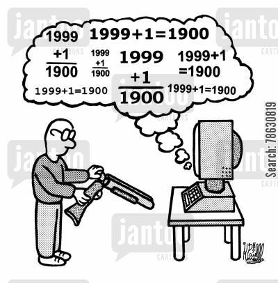 free Millennium clipart y2k. Computer virus y k.