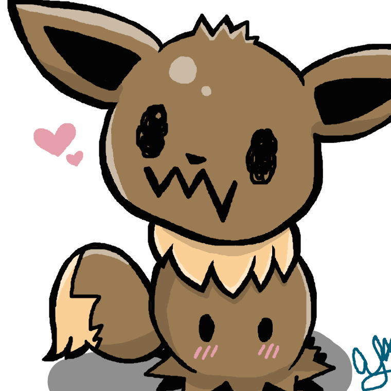 clipart black and white download Mimikyu